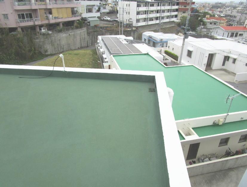 沖縄に多い鉄筋コンクリート造の陸屋根の建物