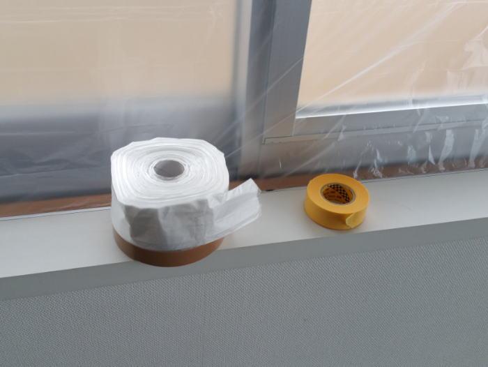 台風時のサッシからの雨水の吹込み対策の道具
