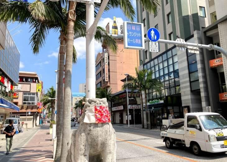 コロナ禍の沖縄の国際通り